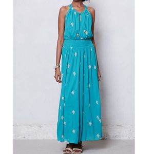 Anthropologie Floreat Skyscape Cotton Maxi Dress